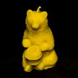 Восковая свеча - Медведь с бочкой мёда