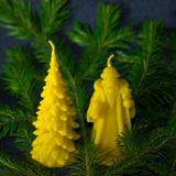 Восковые свечи для Нового Года и Рождества