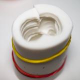 Несовмещённый разрез силиконовой формы